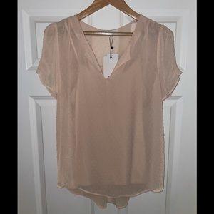 Cute blush blouse